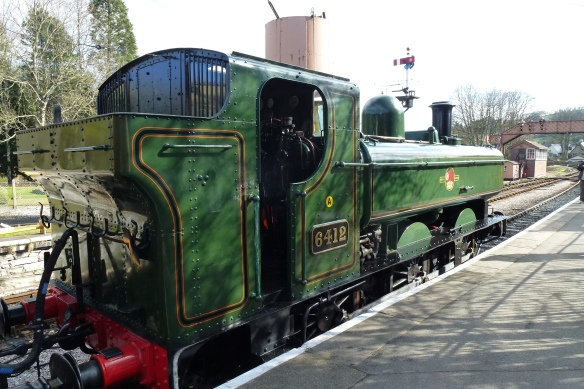 GWR Pannier Tank 6412, built 1934 at Buckfastleigh.