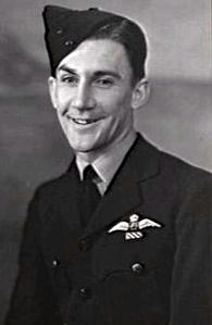 "Flight Lieutenant Allan Whitford DFC RAAF. Note DFC ribbon beneath his ""Wings."""