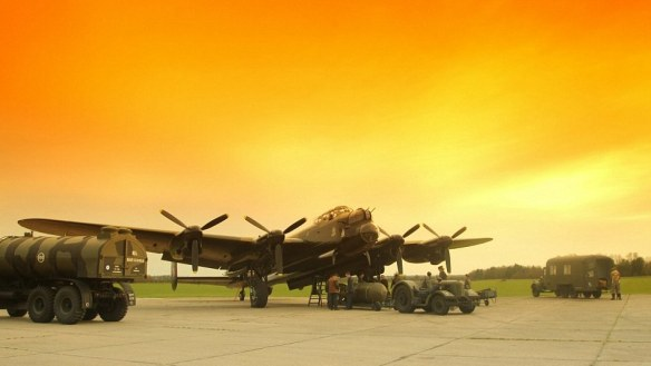 A Lancaster is prepared for action.
