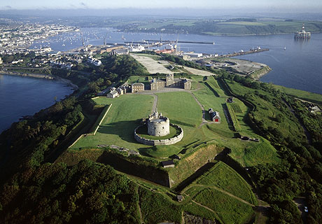 PENDENNIS CASTLE Aerial view of the castle looking North West