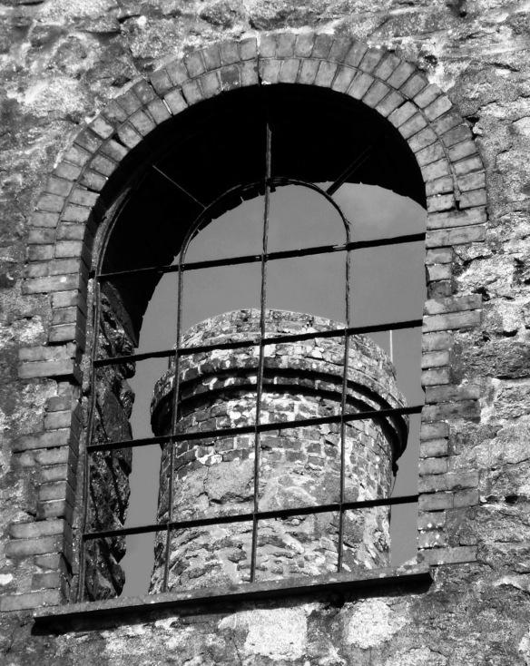 Through the arch window, South Wheal Phoenix Mine.
