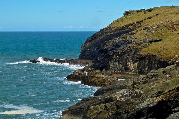 Barras Nose, where Cornwall meets the Atlantic Ocean.