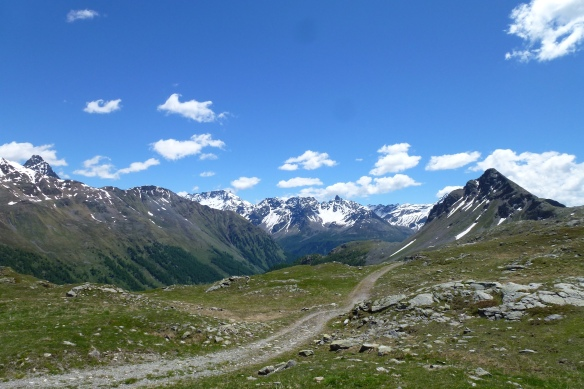 Bernina Pass, the old track.