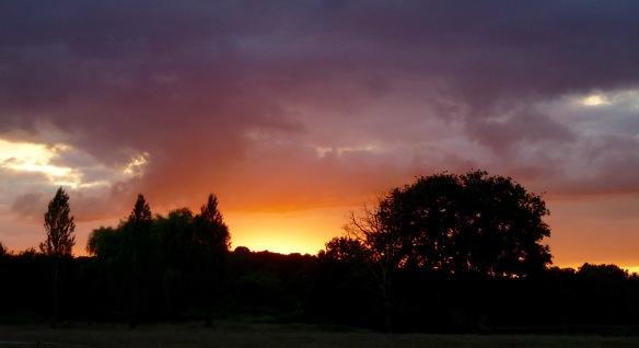 Heart of France sunset.