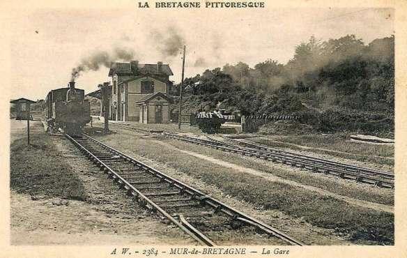 Mur de Bretagne Station in 1910.