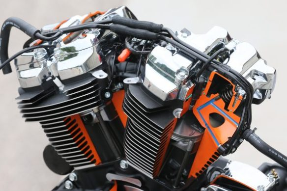 Cut away view of the Milwaukee Eight. Photo: Harley Davidson.